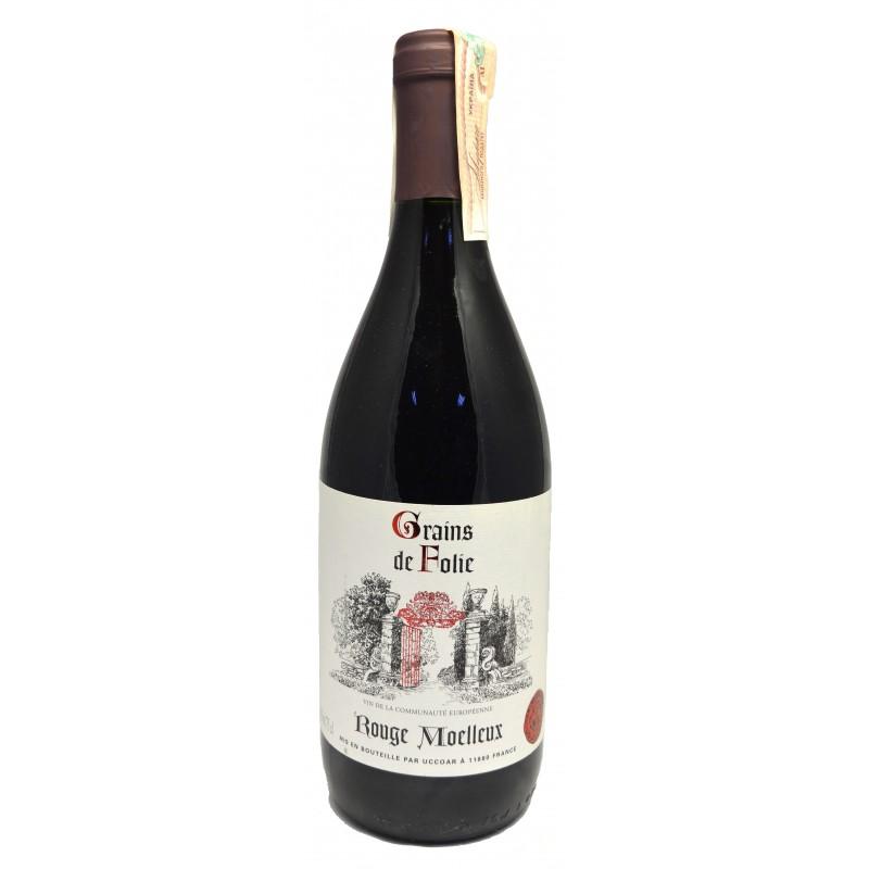Купить Вино Folie Red semisweet красное полусладкое Grains de Folie