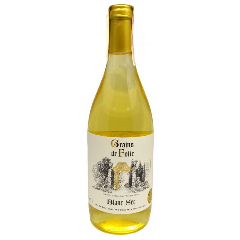 Купити Вино Folie White dry біле сухе Grains de Folie
