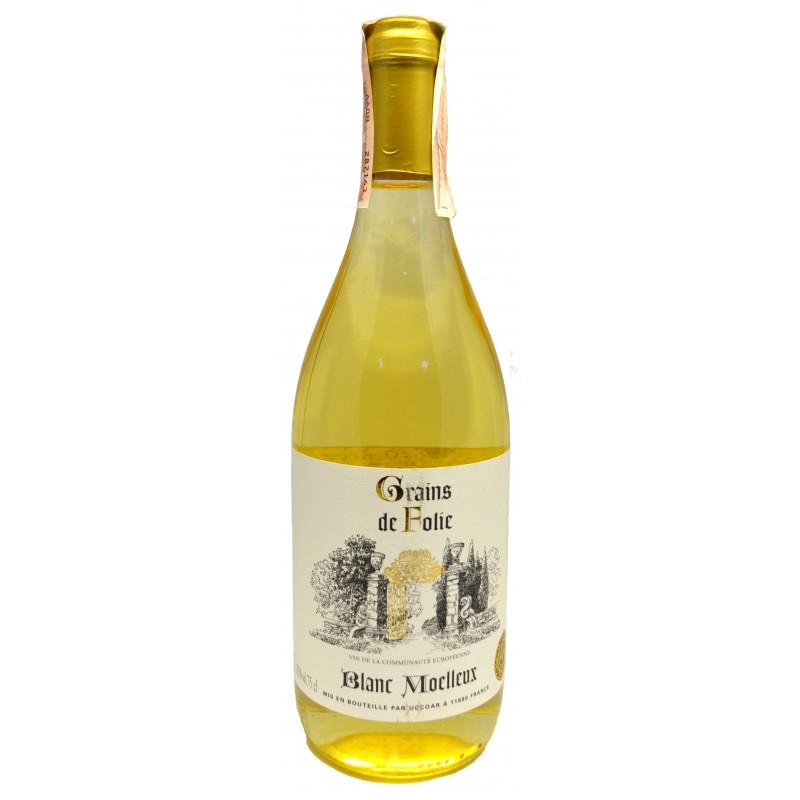 Купить Вино Folie White semisweet белое полусладкое Grains de Folie