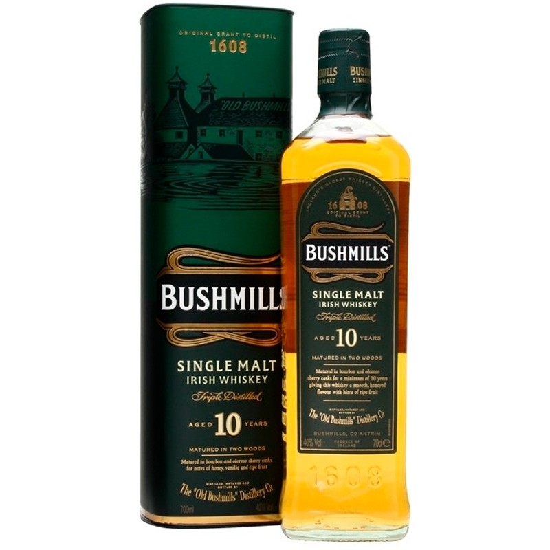 Купить Виски Bushmills Single Malt 0,7л тубус