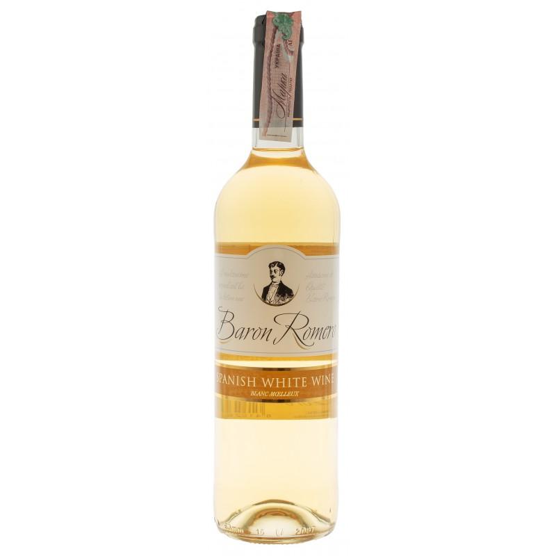 Купить Вино Baron Romero White белое полусладкое