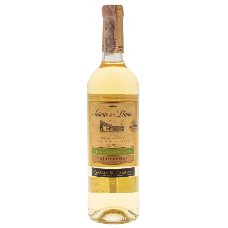 Купить Вино Senorio Llanos Blanco Crianza белое сухое Garcia Carrion