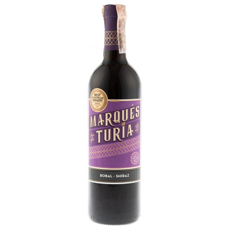 Вино Tinto Bobal-Syrah красное сухое  Marques Del Turia