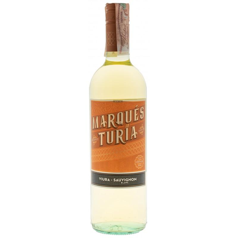 Купить Вино Viura-Sauvignon белое полусладкое Marques Del Turia