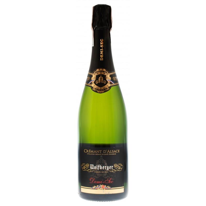 Купить Вино игристое Cremant D`Alsace Demi-Sec белое полусухое Wolfberger