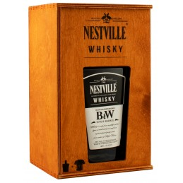 Виски Nestville Black&White 0,7л 40% деревянная коробка на подарок