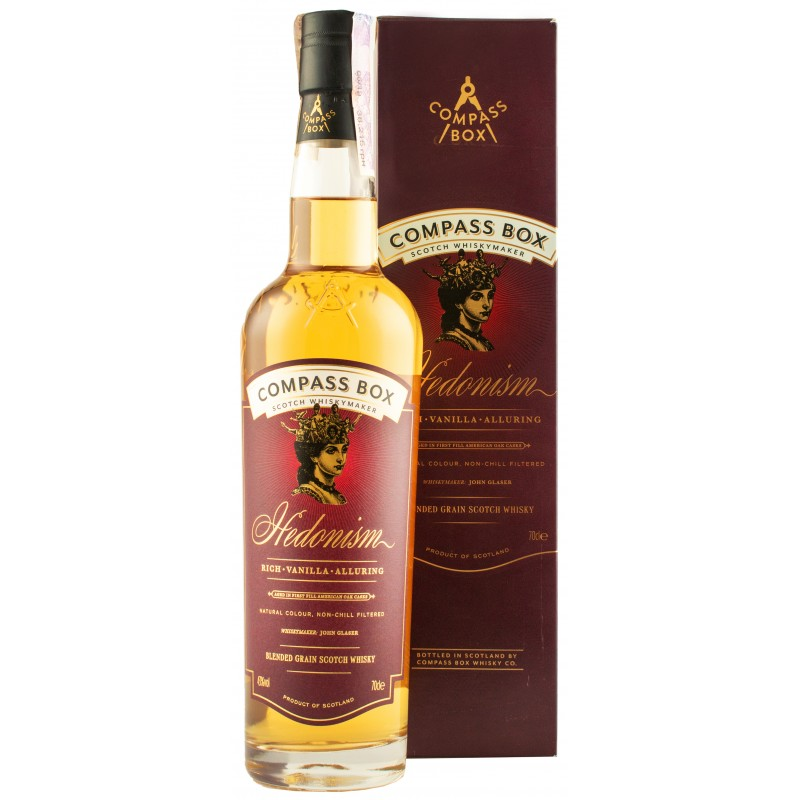 Виски Hedonism 0,7л 43% подарочная коробка