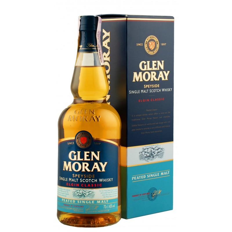 Виски Glen Moray Peated 0,7л у коробці