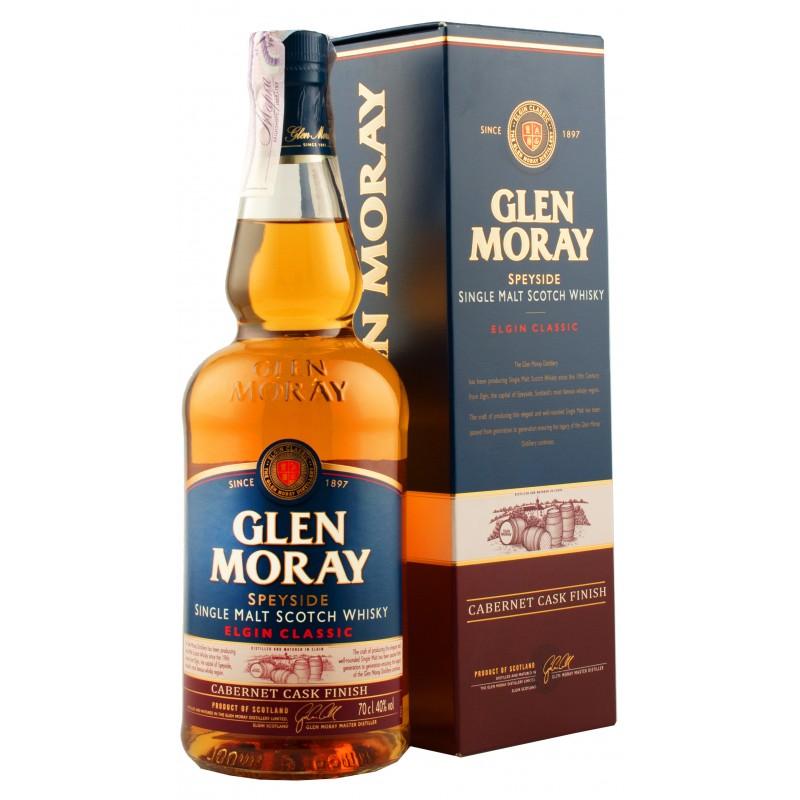Виски Glen Moray Cabernet Sauvignon 0,7л 40% в коробке