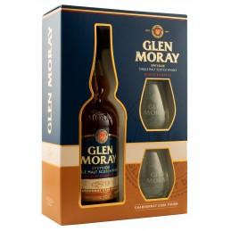 """Віскі """"Glen Moray Chardonnay""""0,7л в коробці + 2 келиха"""