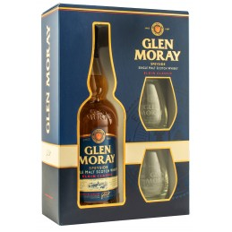 """Віскі """"Glen Moray Classic""""0,7л в коробці + 2 келиха"""
