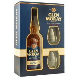 Виски Glen Moray Classic0,7л в коробке + 2 стакана