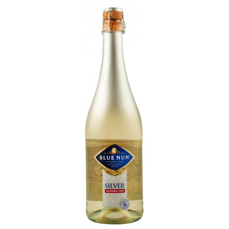 """Вино безалкогольное игристое """"Silver Sparkling"""" белое полу сладкое 0,75л ТМ Blue Nun"""