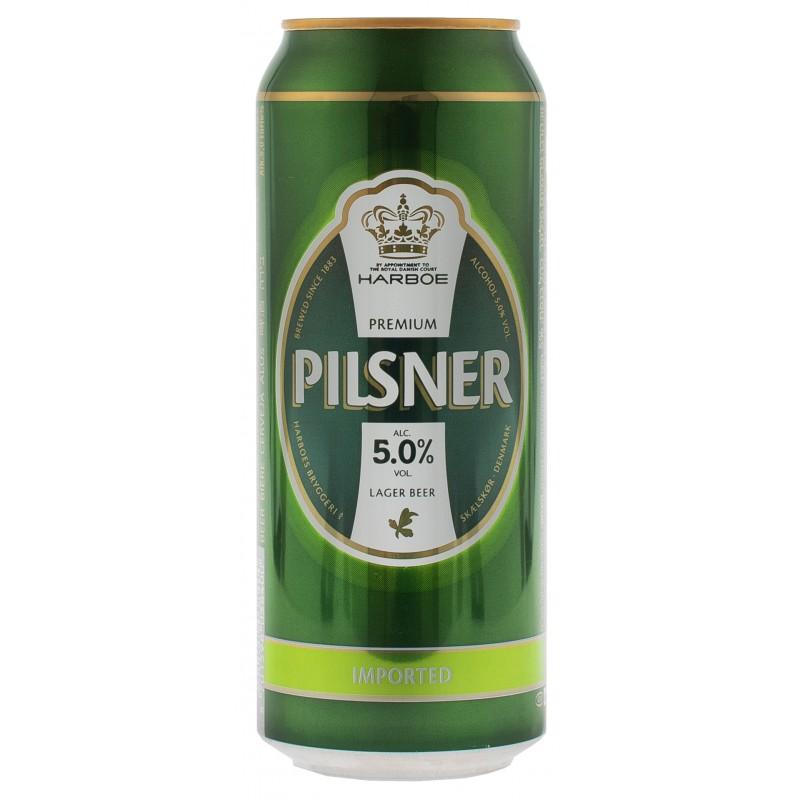 """Пиво светлое """"Harboe Pilsener"""" 0,5л ТМ """"Harboe"""""""
