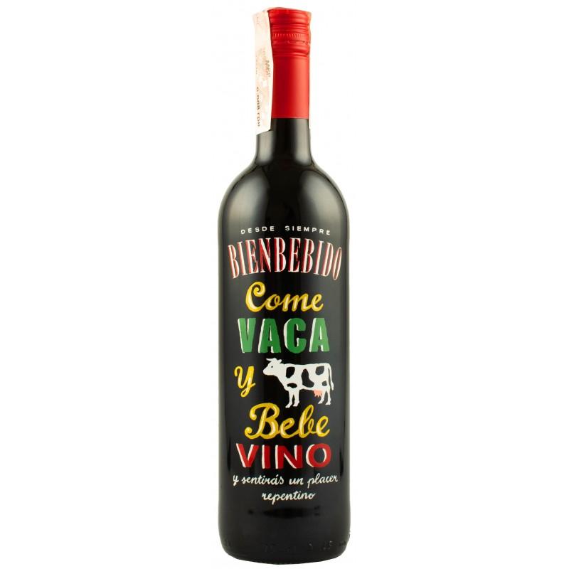 """Вино """"Vaca"""" красное сухое 0,75л 13,5% (Испания, Риоха, ТМ """"Bienbebido"""")"""