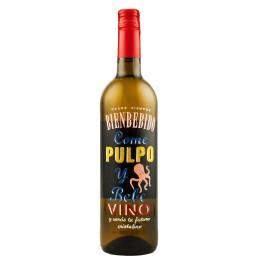 """Вино """"Pulpo"""" белое сухое 0,75л 11,5% (Испания, Риоха, ТМ """"Bienbebido"""")"""