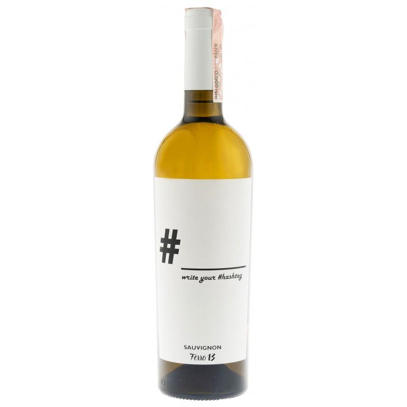 """Вино """"Hashtag Sauvignon"""" бел.сух 0,75л 11,5% (Италия, Венеция,ТМ """"Ferro13"""")"""