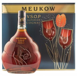 """Коньяк """"Meukow VSOP"""" 0,7л  под.наб.+2 бокала ТМ """"Meukow"""""""