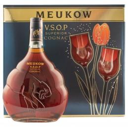 """Коньяк """"Meukow VSOP"""" 0,7л под.наб.+2 келиха ТМ """"Meukow"""""""
