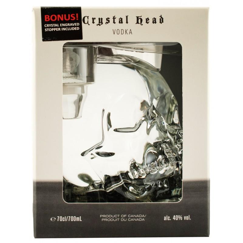 "Водка ""Crystal Head"" в коробке + стоппер 0.7"