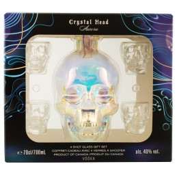 "Водка ""Crystal Head Aurora"" 0,7 л в коробке + 4 рюмки"