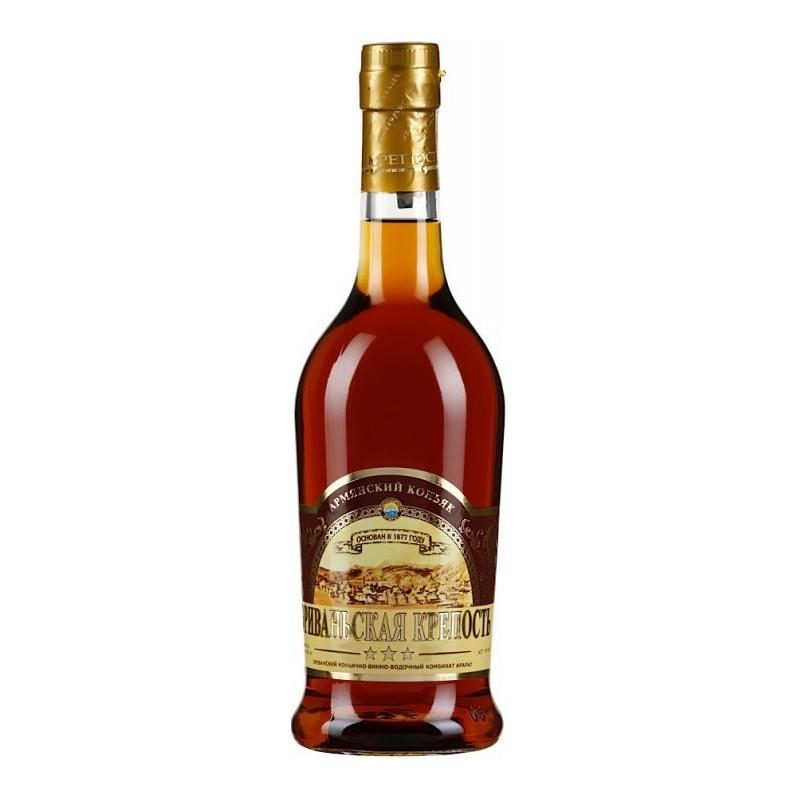 Купить Коньяк Ереванская крепость 3 года 0,5л