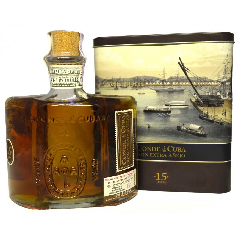 Купить Ром Conde de Cuba 15YO 0.7л в коробке