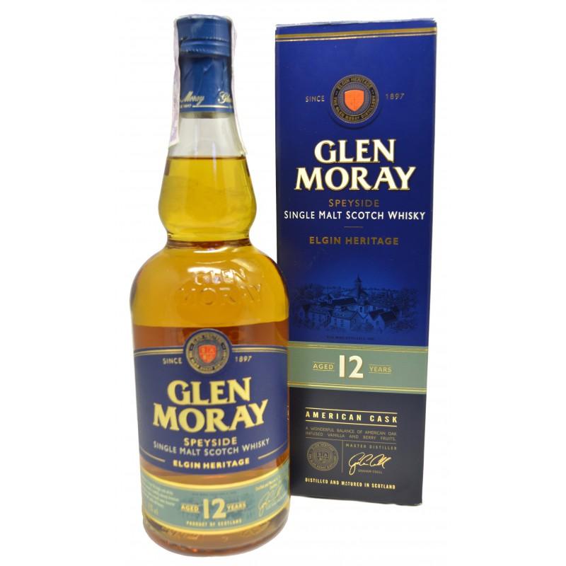 Купити віскі Glen Moray 0,7л 12yo в коробці