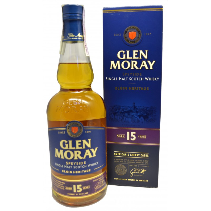 Купити Віскі Glen Moray 0,7л 15yo в коробці